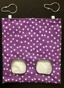 Fabric Hay feeder bag purple stars - guinea pig, bunny
