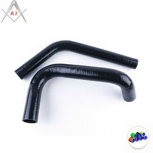 Black For 1960-1962 CHEVY C/K TRUCK PICKUP C10 Silicone Radiator Coolant Hoses