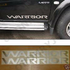 2x Mitsubishi L200/Shogun WARRIOR door decals/stickers