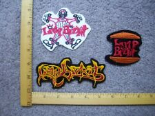 Lot Of 3 Limp Bizkit Rock Band Iron On Patches