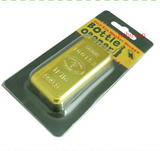 1PCS Gold Bullion Bottle Opener Magnet Fridge Cloth Paper Weight Money Luck