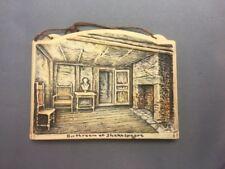 Birthroom of Shakespeare 4½x3¼  Arthur Osborne Ivorex Wall Plaque