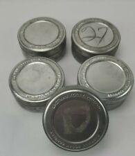 "5 Vintage Eastman Kodak Company 35mm Tin Film Canisters 3 3/4"" diameter"