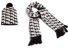 Vera Bradley Scottie Dogs Jacquard Knit Scarf & Pom Pom Beanie Set (New)
