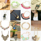 Fashion New Chain Crystal Jewelry Pendant Choker Chunky Statement Bib Necklace