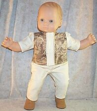 """Doll Clothes Baby Made 2 Fit American Girl 15"""" inch Boy Bitty Shirt Pants Wolf"""