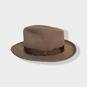 Vtg 1950s PILGRIM Fedora 7 3/8 ~ 50s hat Whippet BOUND EDGE playboy Work Wear