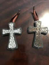 Set of 2 Custom Hanging Wooden Cross Wall Decor