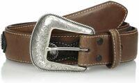 Nocona Belt Co. Men's Top Hand Brown Side Overlay