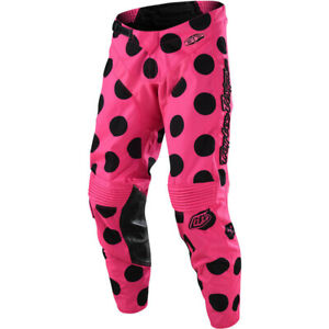 NEW Troy Lee Designs MX GP Polka Dot Pink/Black Off Road Dirt Bike Riding Pants