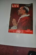 LIFE Magazine December 13, 1954 LIFE Magazine December 13, 1954 Pope Pius XII
