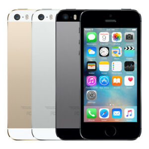 iPhone 5s 16GB 32GB 64GB Factory Unlocked Smartphone iOS Mobile Gold Gray Silver