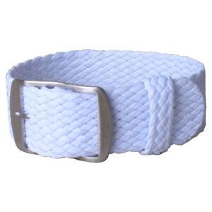 Watch Band Nylon OTAN Pure Color Perlon Strap 14 16 18 20 22mm Military Stripe