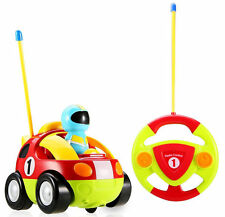 Kids Toys Car Mini Radio Control Electric Cartoon RC Toddler Remote Music Lights
