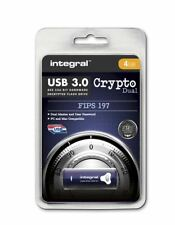 Integral 4GB CRYPTO DUAL USB 3.0 Encyrpted Flash Drive with FIPS 197 Security.