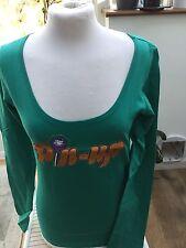 Chupa Chups T Tee Shirt Sz S Teenage Girl Woman Jade Green L S 'Pin Up' Logo