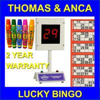 Lucky Bingo Electronic Bingo Machine 1-90 & 1-75 Free 15ml Dabbers or Tickets