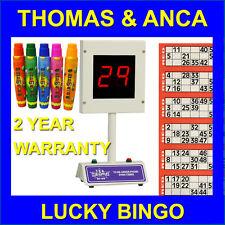 Lucky Bingo Bingo Electrónico Máquina De 1-90 y 1-75 entradas gratis de 15ml dabbers o