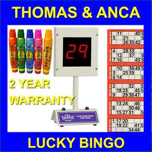 Bingo Machine Lucky Bingo Electronic  1-90 & 1-75 Free 15ml Dabbers or Tickets