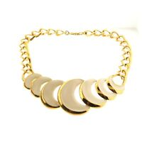 Vintage Napier Enamel Choker Collar Necklace Gold Tone