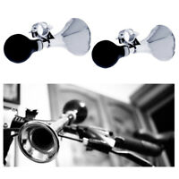 2 Pc Bicycle Bike Horn Cycling Metal Bell Retro Classic Rubber Squeeze Bulb