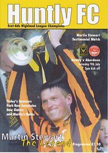 Huntly v Aberdeen 9 Jul 2005 Martin Stewart Testimonial