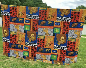 Vintage 90s The Lion King Flannel Sheet Simba Disney Very Rare Twin Size 69x98