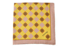 E. Marinella 100% Silk Scarves Tuch Schal Pocket Square  Yellow Silk   44x44