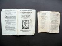 Due Frontespizi '500 '600 Avvertimenti ai Confessori Pindaro Marche Tipografiche