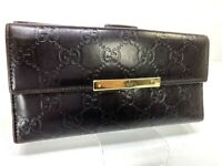 Auth GUCCI GG Guccissima Leather Long Bifold Wallet Purse 59320066