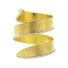 Bracciale Stroili Oro New Moon bangle big in bronzo dorato e cristalli