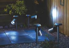 Stainless Steel Solar Spotlights 4 Pack Garden Decoration Lights Walkway LED