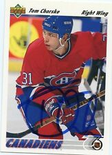 TOM CHORSKE CANADIENS AUTOGRAPH AUTO 91-92 UPPER DECK #427 *31284