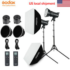 Godox SL-60W Studio Continuous LED Light Two Light Kit With Softbox Light Stand