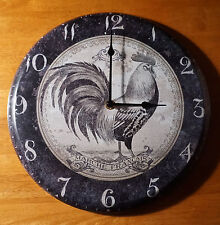Rustic Primitive Style French Country Rooster Farm Kitchen Decor Wall Clock NEW