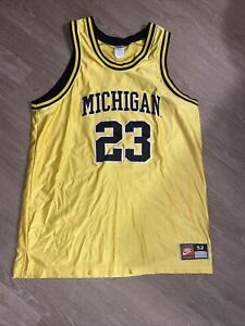 Vintage Nike Michigan Wolverines Basketball Jersey 23 Size 52