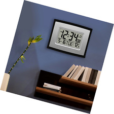 Digital Wall Clock Indoor Temperature Calendar Timer Alarm LCD Display Modern