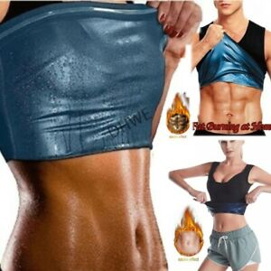 Women Men Sweat Sauna Shaper Slimming Sports Vest Tank Top for Weight Loss UK