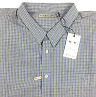 RM Williams Mens Collins Long Sleeve Button Up Shirt Check Size 5XB NEW NWT
