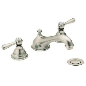 "Moen T6105AN Kingsley 8"" Widespread Bathroom Faucet Trim Antique Nickel FREE S&H"