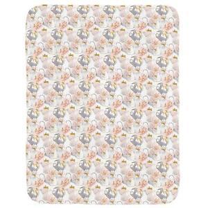 Carousel Designs  Baby Girl Crib Comforter Watercolor Pink & Heather Gray Sloth
