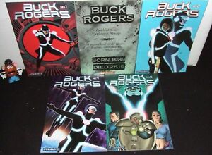 """BUCK ROGERS 5 ISSUE RUN #1 2 3 4 5 DE 2009 """"FUTURE SHOCK"""" ORIGIN RE-TOLD VF/NM"""