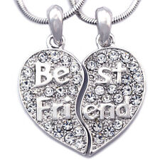 Gift For Best Friend Forever BFF Heart Friendship Pendant Necklace n2032c