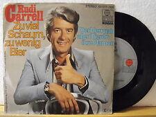 """7"""" Single - RUDI CARRELL - Zu viel Schaum zu wenig Bier - Ariola 1979"""