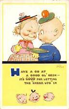 """""""Have a Go at a Good Ol' Grin"""" Comic Children Couple, Mabel Lucie Attwell 1954"""
