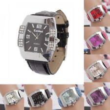 Fashion Women Crystal Dial Quartz Analog Leather Bracelet Luxury Wrist Watch