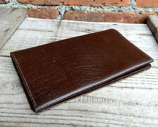 Vintage Mens Real Leather Bifold Wallet - Brown - Made in England - Unused