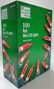 100 Light LED RED Smooth Mini Constant Christmas VALENTINE