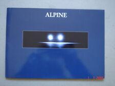 ALPINE-RENAULT  A 610 Turbo  Prestige catalogue / Luxusprospekt  1993.