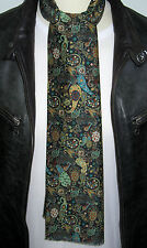 SUPERNOVA Dk Green Pretty Paisley Liberty Fabric Mod Scarf Indie Scooter Retro